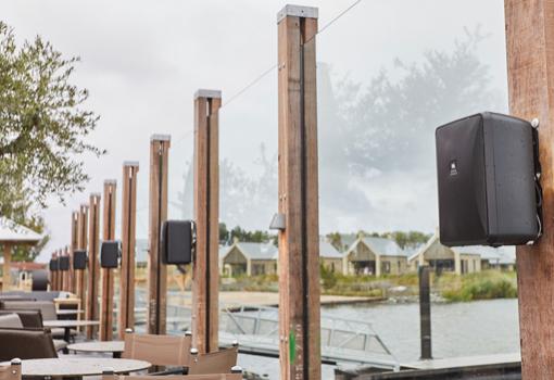 MVIE Terras Geluidssysteem Waterrijk Oesterdam Speakers 510x350