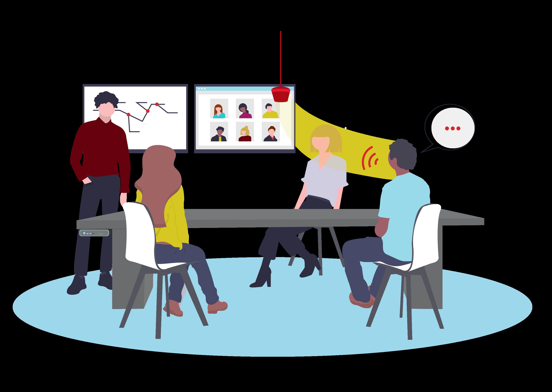 systemen die videoconferentie makkelijk maakt
